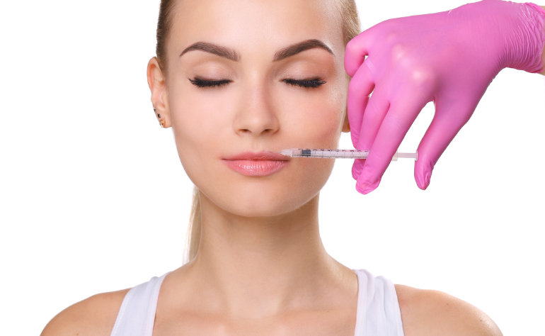 Smiling Woman - Facial Injection
